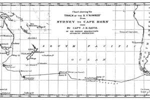 Trasa pátrania po Doughertyho ostrove.