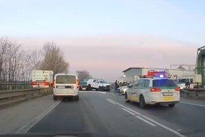 Momentka z dopravnej nehody