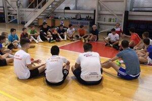 Z tréningu mládežníckych futsalistov.