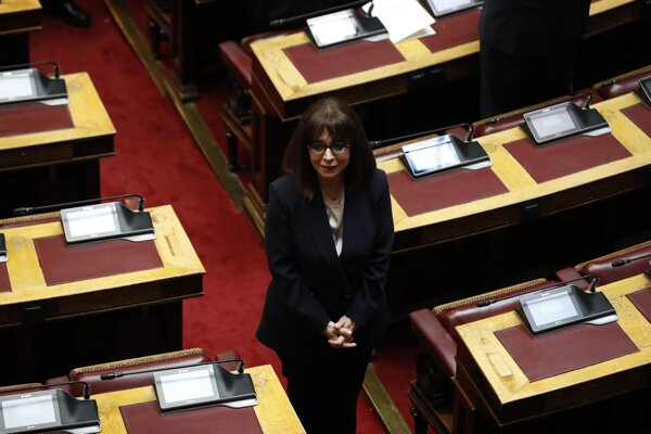 Grécka prezidentka Katerina Sakellaropulová.