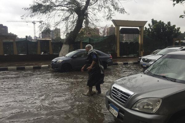 Záplavy v Egypte.