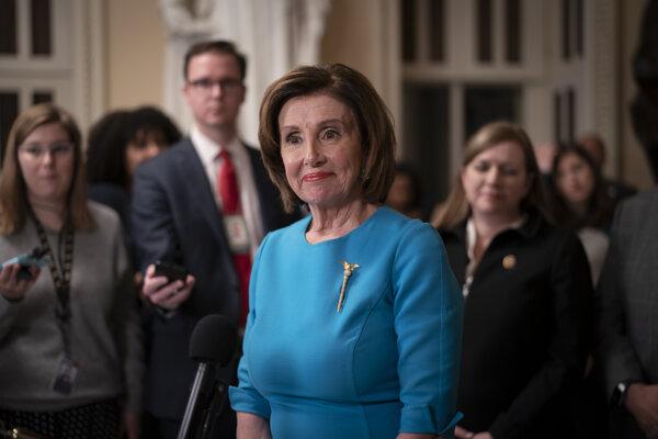 Predsedníčka Snemovne reprezentantov amerického Kongresu Nancy Pelosiová.
