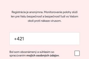 Registrovať sa môžete prostredníctvom telefónneho čísla alebo e-mailovej adresy.