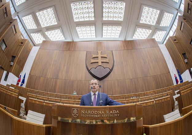 Nový šéf parlamentu Boris Kollár.