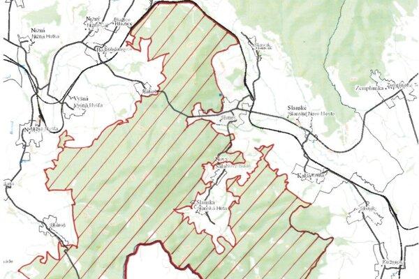 Mapa zobrazuje lokality zákazu vstupu do lesov.