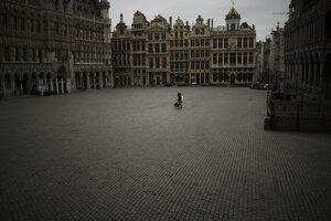 Vyľudnený Brusel.