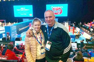 Jessica Triebeľová s otcom Petrom.