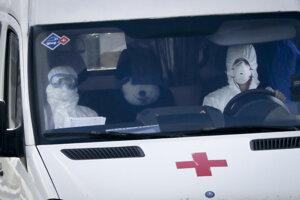 Záchranná služba v Moskve.