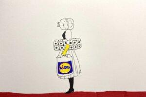 Týmto obrázkom Ivany Šátekovej sa rozbehla online galéria pre umenie v čase koronavírusu.
