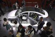 Elektromobil novej značky Geometry čínskej automobilky Geely predstavili na medzinárodnom autosalóne v čínskom Šanghaji 16. apríla 2019.