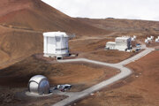 Vesmírne observatóriá na hore Mauna Kea.