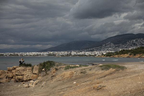 Morské pobrežie v Aténach.