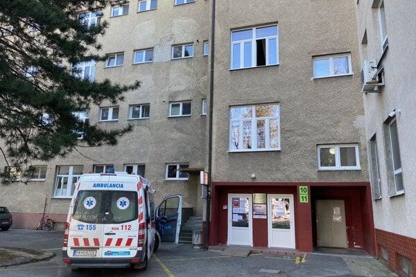 Infekčné oddelenie v Trenčíne.