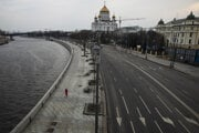 Moskva v čase pandémie.
