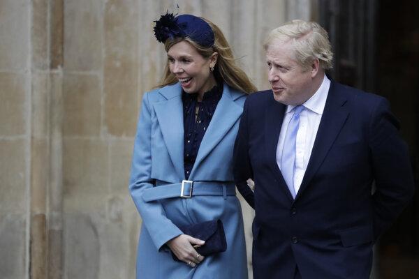 Snúbenica britského premiéra Borisa Johnsona Carrie Symondsová.