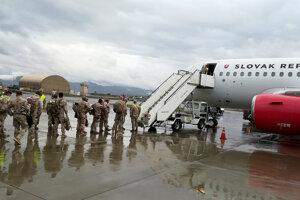 Návrat slovenských vojakov z Afganistanu.