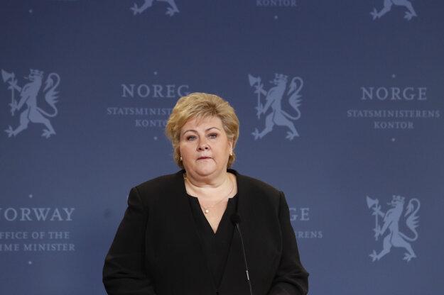 Nórska premiérka Erna Solbergová.