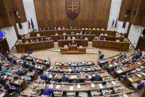 Parlament v priebehu predstavovania Programového vyhlásenia vlády.