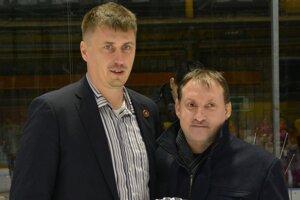 Ervín Mik (vľavo) - prezident HC Topoľčany.