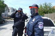 Mestskí policajti hliadkovali na Borovej aj počas prvej vlny pandémie.