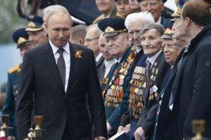 Ruský prezident Vladimir Putin počas osláv Dňa víťazstva nad fašizmom.