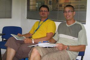 Na archívnej snímke (zľava) Marek Pribula a Gabriel Paľa.