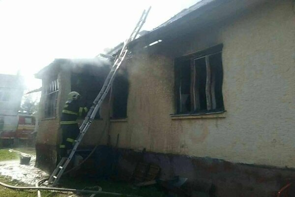 Zásah hasičov v Udavskom.