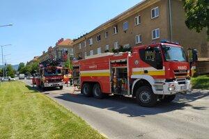 Požiar bytu v Prievidzi.