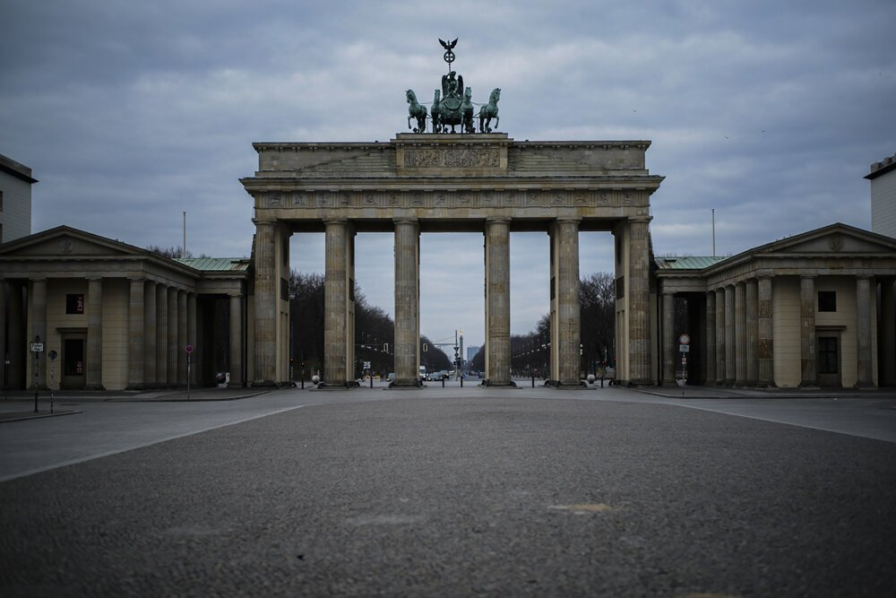 Brandenburská brána, 19. marec 2020.