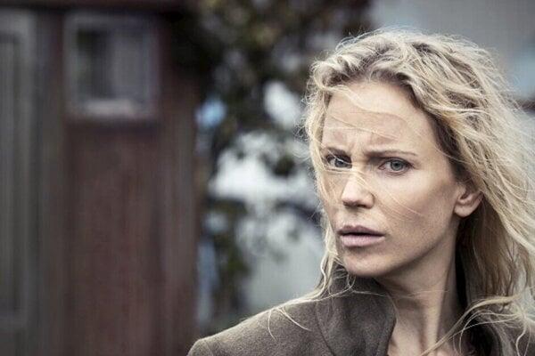 Sofia Helin ako Saga Norén v seriáli Most.