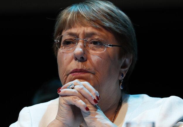 Komisárka OSN pre ľudské práva Michelle Bacheletová.