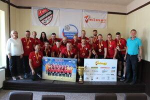 Mimel Lučenec - víťaz Varta futsal ligy 2019/20.