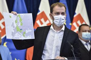 Premiér Igor Matovič na utorňajšej tlačovej konferencii.