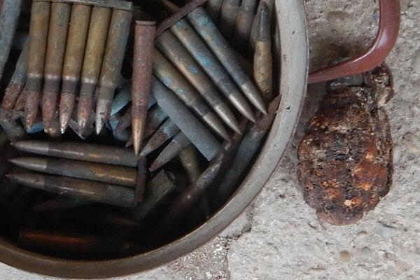 Nájdená munícia v Mošovciach.