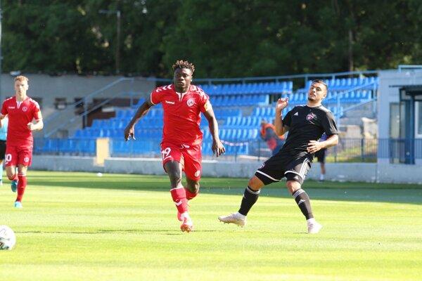Momentka z tréningového zápasu FK Senica - FC Spartak Trnava 1:0