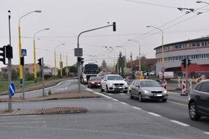 Cesta na Vranovskej ulici v Prešove.