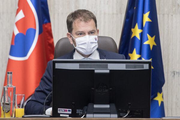 Na snímke premiér SR Igor Matovič.