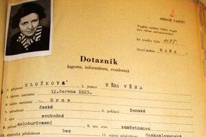 Viera Hložková intímne poznala špičky strany a spolupracovala s eštebákmi.