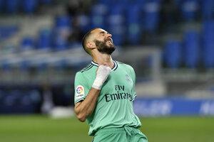 Karim Benzema po strelenom góle.