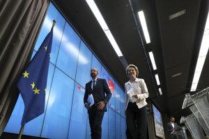 Šéfka Európskej komisie Ursula von der Leyenová, predseda Európskej rady Charles Michel.