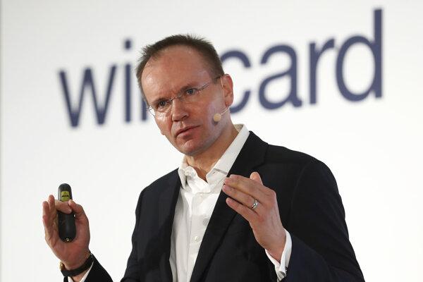 Na archívnej snímke z 25. apríla 2019 generálny riaditeľ spoločnosti Wirecard Markus Braun.