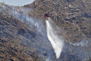 Lesný požiar - ilustračná fotografia.