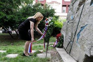 Prezidentka Zuzana Čaputová si uctila pamiatku Milady Horákovej.