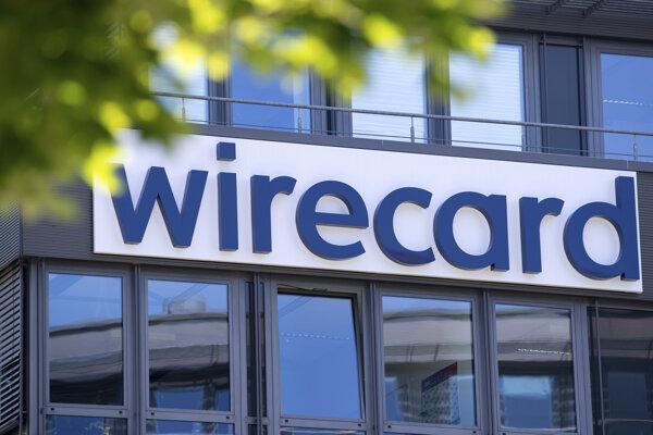 Logo na budove sídla spoločnosti Wirecard v nemeckom Aschheime.