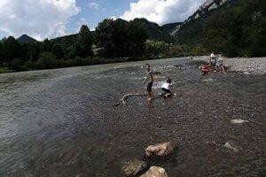 Kúpanie sa v Dunajci.