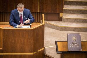 Predseda Národnej rady Boris Kollár.