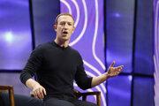 Šéf a zakladateĺ Facebooku Mark Zuckerberg počas príhovoru na konferencii Tech Summit v Salt Lake City.