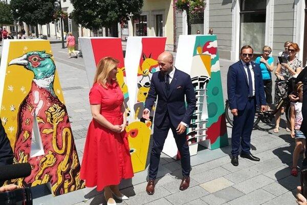 Prezidentka Čaputová s primátorom Bročkom.