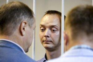 Ivan Safronov na súde v Moskve.