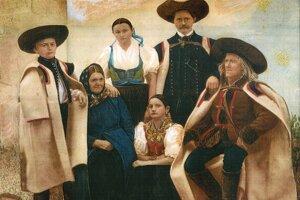 Kroje karpatských Nemcov v Hauerlande.